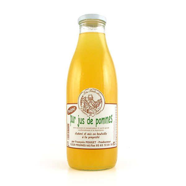 Pur jus de pommes de l'Aveyron avec pulpe
