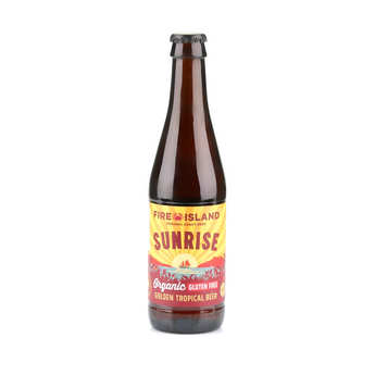 Fire Island Organic Craft Beer - Sunrise - Organic and Gluten Free Golden Beer from Wales  4,4%