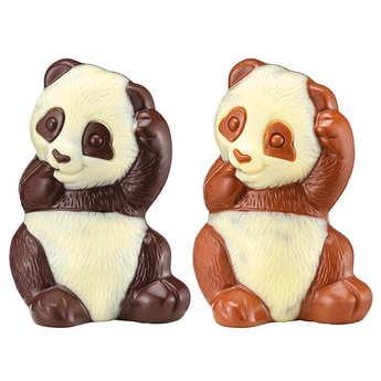 Voisin chocolatier torréfacteur - Pandas au chocolat noir et au lait Voisin