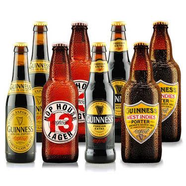 Assortiment de 8 bières irlandaises Guinness