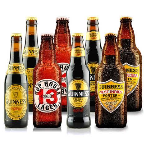 Brasserie Guinness - Assortiment de 8 bières irlandaises Guinness