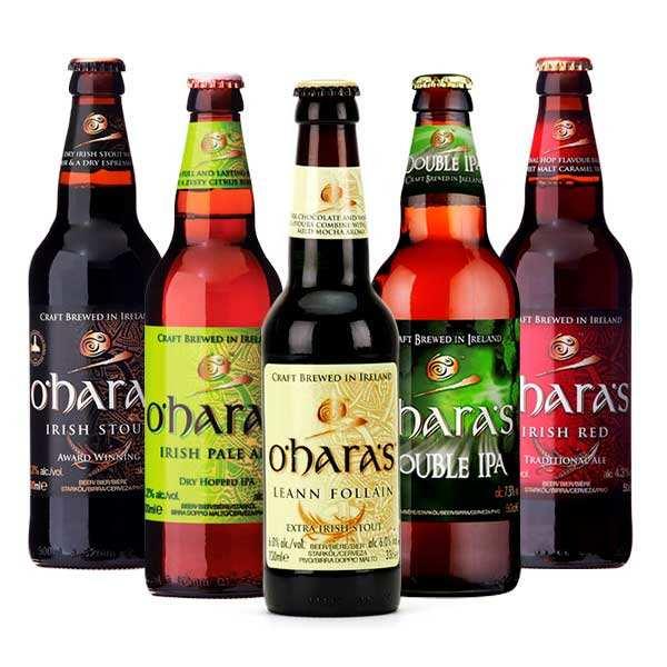 Assortiment de 10 bières irlandaises O'Hara's