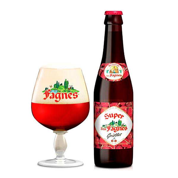 Bière Fagnes à la griotte - Belgian Beer 4.8%