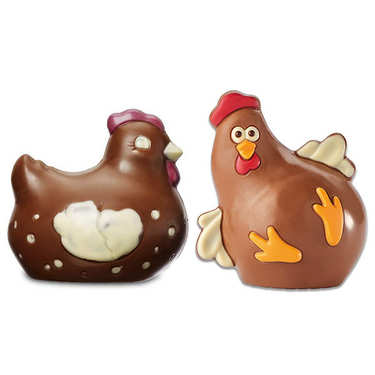 Milk Chocolate Rooster and Hen