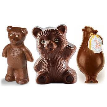 - Trio d'ours au chocolat au lait