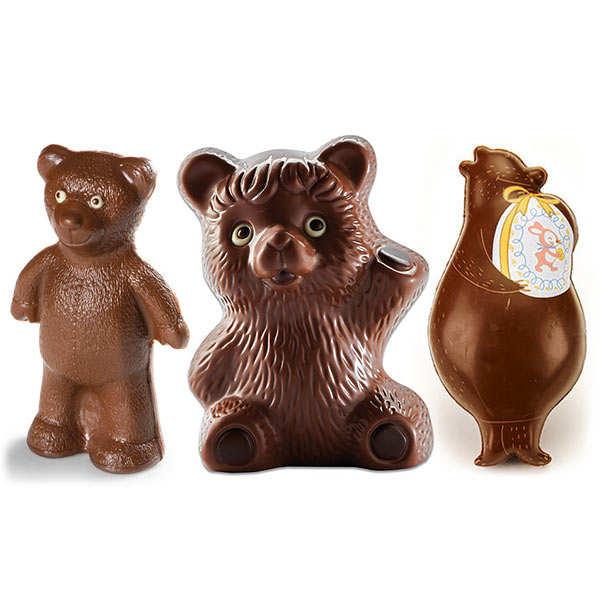 Trio d'ours au chocolat au lait