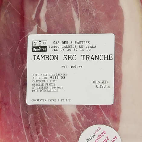 Les 3 pastres - Slice Cured Ham - GAEC Les 3 pastres
