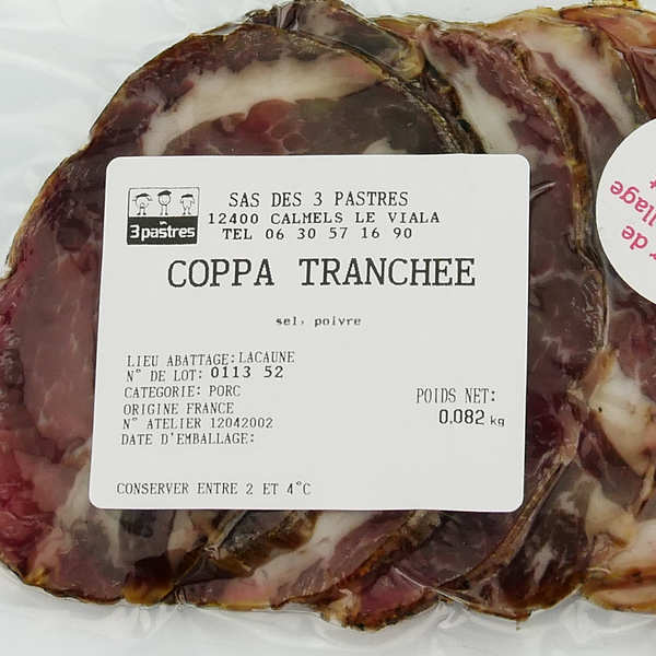 Sliced Coppa from South of France - GAEC Les 3 pastres