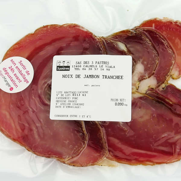 Sliced Ham from South of France - GAEC Les 3 pastres