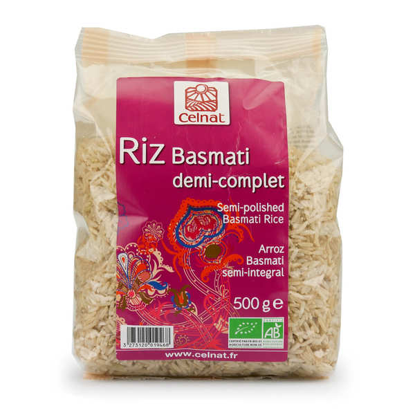 Organic Semi-Polished Basmati Rice