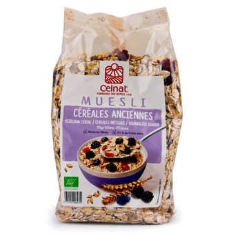 Celnat - Organic Old Grains Muesli with Blueberry and Blackberry