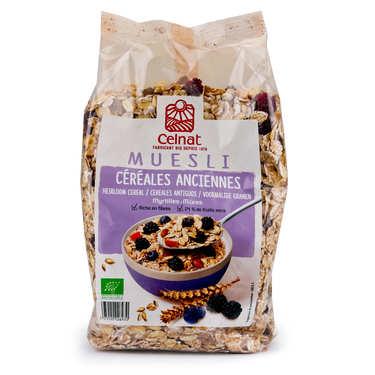 Muesli aux céréales anciennes myrtille et mûre bio