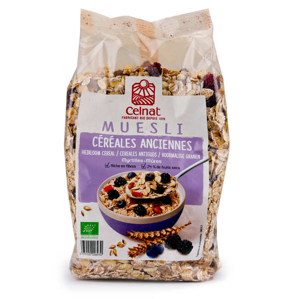 Organic Old Grains Muesli with Blueberry and Blackberry