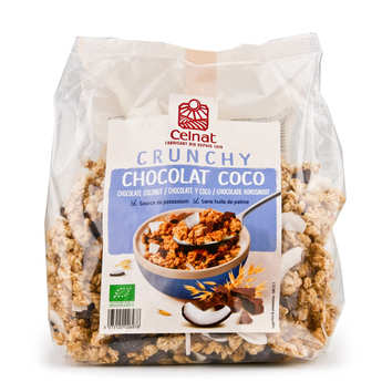 Celnat - Organic Crunchy Oat Cereal with Dark Chocolate and Coconut