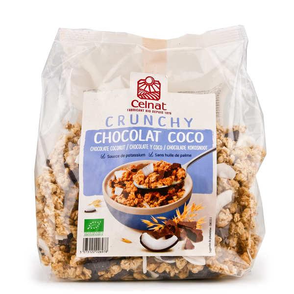 Crunchy au chocolat noir et à la noix de coco bio