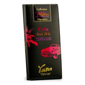 Voisin chocolatier torréfacteur - Tablette chocolat noir Cuba 78% - Voisin
