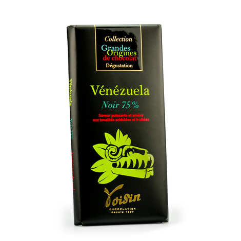 Voisin chocolatier torréfacteur - Tablette chocolat noir Vénézuela 75% - Voisin