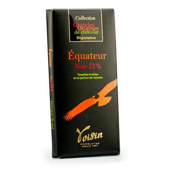 Voisin chocolatier torréfacteur - Tablette chocolat noir Equateur 73% - Voisin