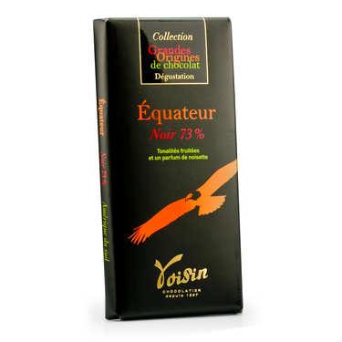 Tablette chocolat noir Equateur 73% - Voisin