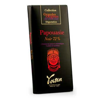 Voisin chocolatier torréfacteur - Tablette chocolat noir Papouasie 72% - Voisin