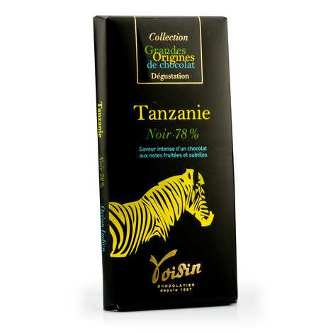 Voisin chocolatier torréfacteur - Tablette chocolat noir Tanzanie 78% - Voisin