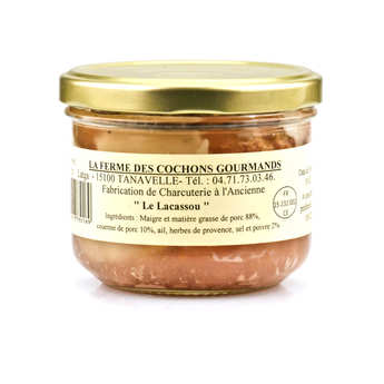"""La ferme des cochons gourmands - """"Le Lacassou"""" Pâté from Cantal"""