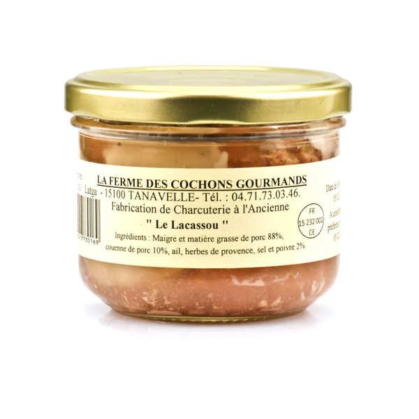 Pâté le lacassou du cantal - 3 verrines de 200g