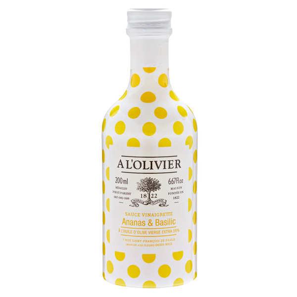 Sauce vinaigrette ananas basilic