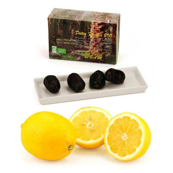 Duo de citrons de Syracuse et dattes fraîches bio