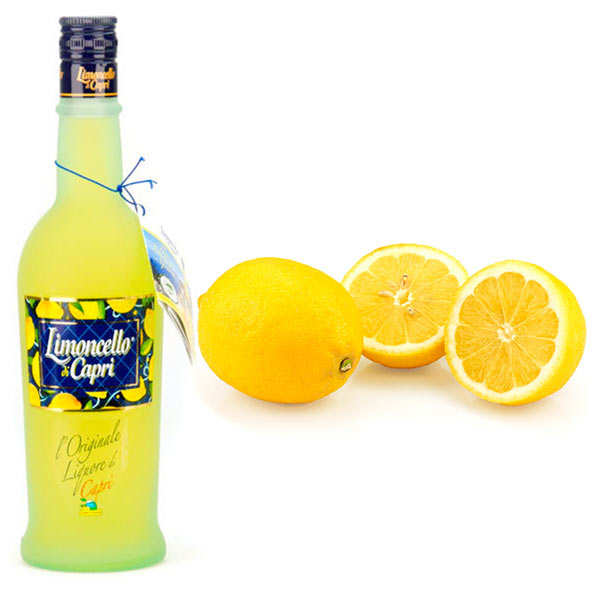 Assortiment citrons de Syracuse bio et Limoncello di Capri