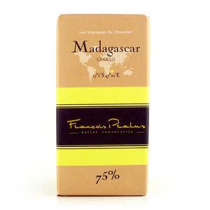 Chocolats François Pralus - Tablette de chocolat noir criollo 75% Madagascar bio