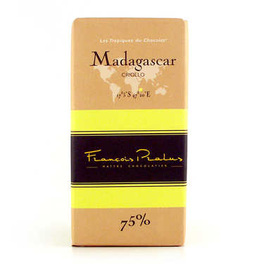 Tablette de chocolat noir criollo 75% Madagascar