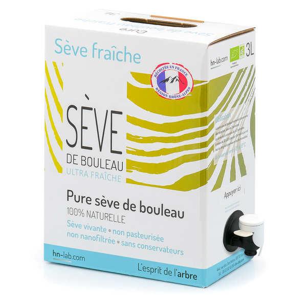 Sève de bouleau fraîche bio des Pyrénées