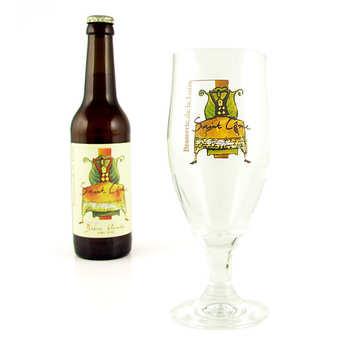 """Brasserie de la Loire - Verre à pied bière """"Mosser"""""""