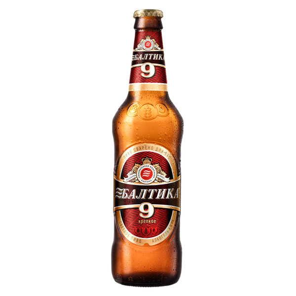 Baltika N°9 Classic - Bière blonde de Russie 8%