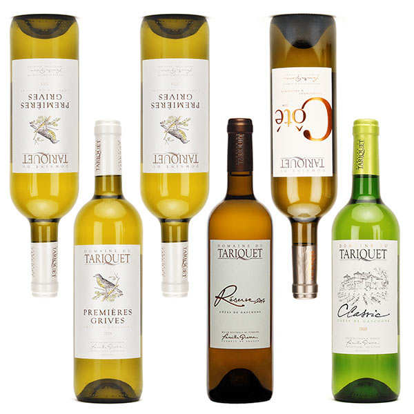 Assortiment découverte vins blancs Tariquet