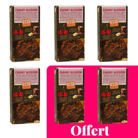 Van Strien - Cookies pur beurre cerises et chocolat - 4 + 2 offerts