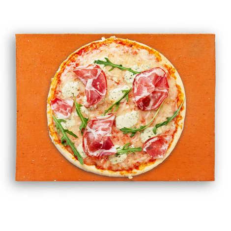 - Assortiment pierre à pizza et sa pelle en inox