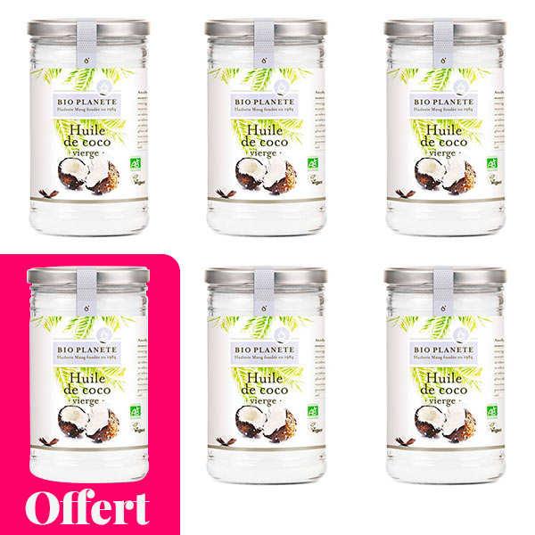 Organic virgin coconut oil - 5 + 1 free