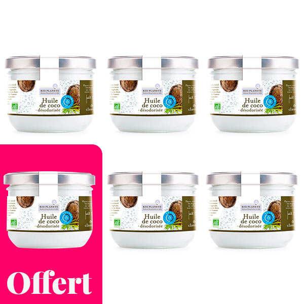 Organic Deodorized Coconut Oil - 5 + 1 free