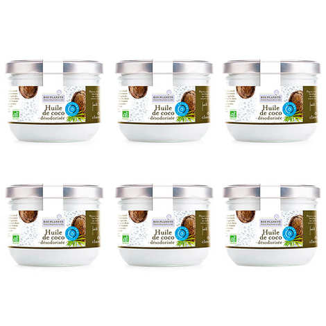 BioPlanète - Huile de coco désodorisée bio - 5 + 1 offert