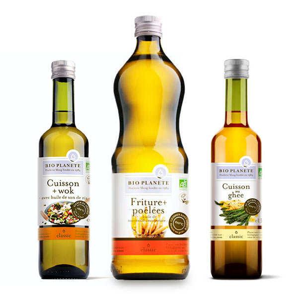 Assortiment de 3 huiles bio pour cuisson BioPlanète
