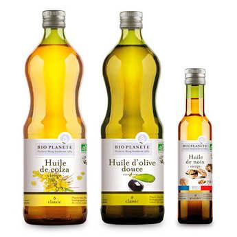 BioPlanète - Assortiment d'huiles bio d'assaisonnements BioPlanète