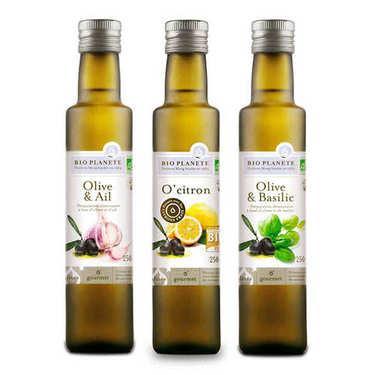 Lot découverte d'huiles bio aromatisées BioPlanète