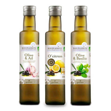 BioPlanète - Lot découverte d'huiles bio aromatisées BioPlanète