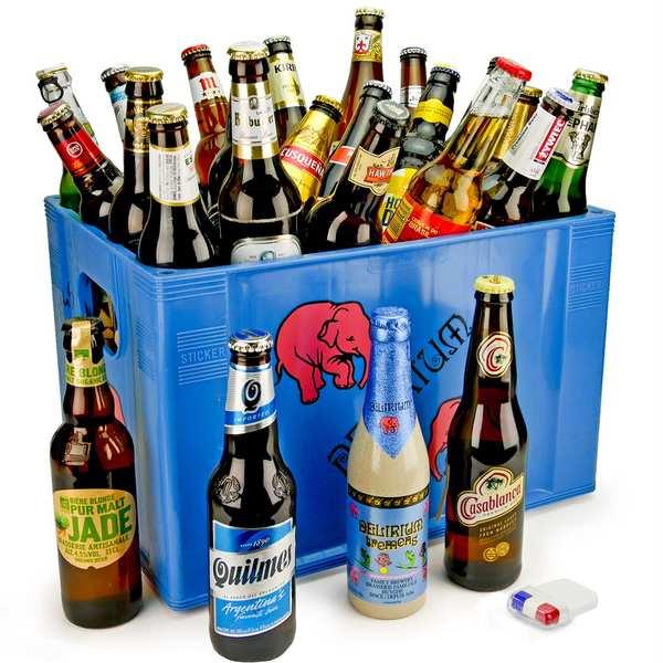 Caisse de 24 bières du supporter