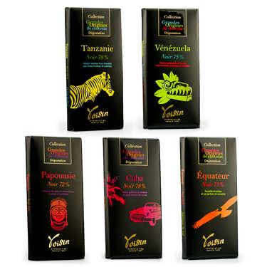 Assortiment découverte tablettes de chocolat noir Voisin
