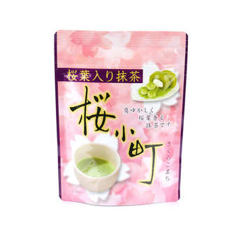 - Matcha Green Tea with Cherry Blossom Sakura Komachi