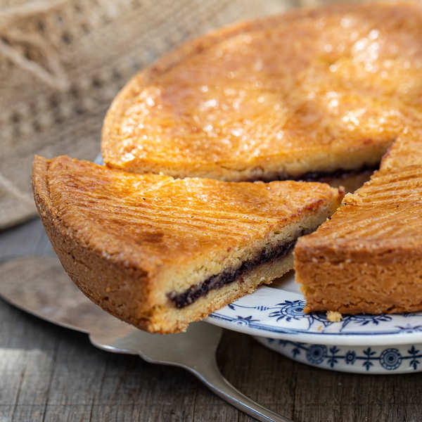 French 'Gâteau Basque' with Black Cherry Jam