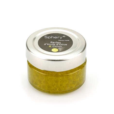 Sphery + - Perles d'huile d'olive aromatisée au citron